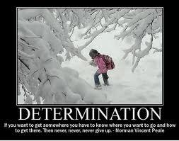 Determination - Peale Quote