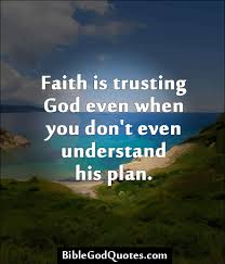 Faith is...trusting God