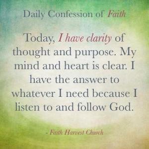 Clarity Confession