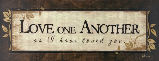Love One Another Placque